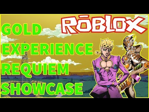 ROBLOX //JOJO'S PECULIAR ESCAPADE! //SHOWCASE СТЕНДА GOLD EXPERIENCE REQUIEM! //ОБЗОР СТЕНДА!