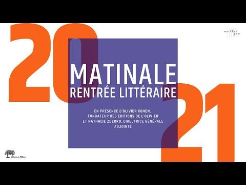 Matinale RL 2021 - Editions de l'Olivier