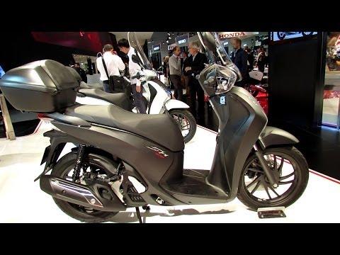 2014 Honda SH125i ABS Scooter Walkaround - 2013 EICMA Milan Motorcycle Exibition