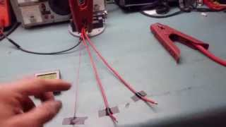 Test of 10, 12 and 24 gauge wires at 100A !!