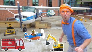 Blippi at the Children's Museum to see Vehicles for Kids | Transportation Song
