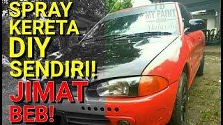 CAT KERETA DIY SENDIRI TAK PERLU COMPRESSOR! #PZSPRAY