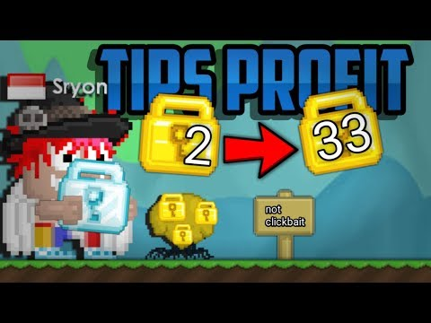 Tips Profit Modal 2WL jadi 33WL 🤑 |GROWTOPIA.