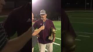 Joe Ramuno and the Palisade Bulldogs capture the 1st annual WarDog Trophy