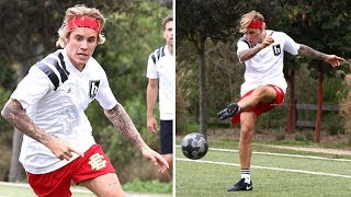 Justin Bieber Gets His Kicks On The Soccer Field - Video Youtube