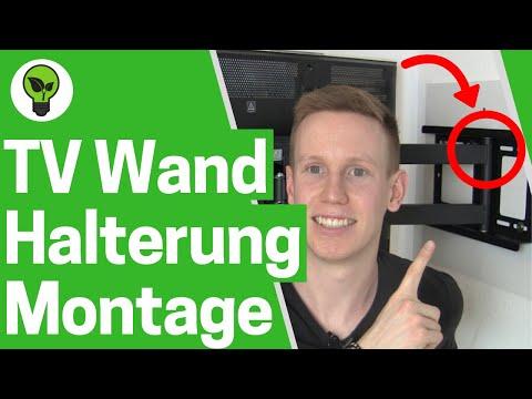 TV Wandhalterung aufhängen ✅ TOP MONTAGE: Flachbildfernseher mit Halterung Ricoo R23 an Wand hängen!
