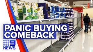Coronavirus: Product limits back as panic buying returns | 9 News Australia