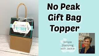 How To Make A DIY Gift Bag Topper For Birthday