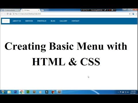 video tutorial on how to create basic menu in css?