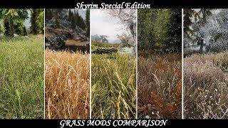 Skyrim SE - Grass Mods Comparison (Updated 2019)