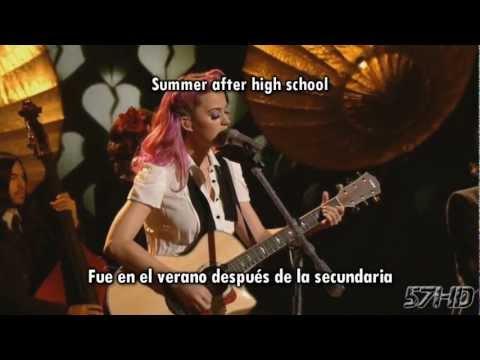Katy Perry - The One That Got Away HD Live Subtitulado Español English Lyrics