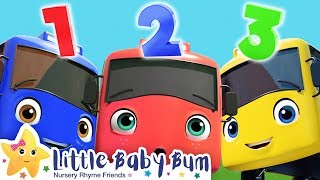 10 Little Buses! | +More Nursery Rhymes & Kids Songs | Song Compilation | Little Baby Bum