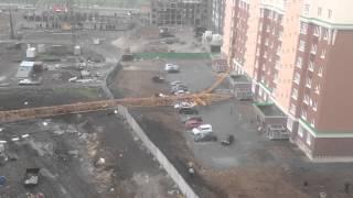 Падение крана Кемерово Московский 16