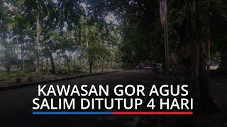 Kawasan GOR H Agus Salim Kota Padang Ditutup 4 Hari, Akses Jalan Masuk Ditutup
