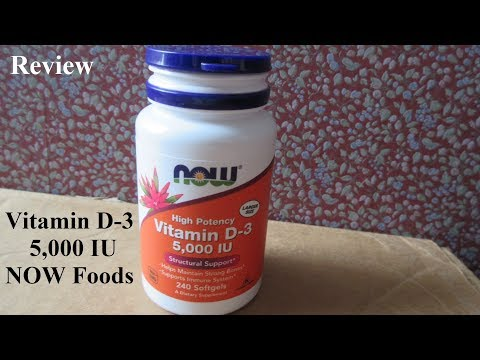 NOW Vitamin D-3 5000 IU Review Video