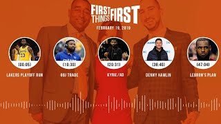 First Things First audio podcast (2.19.19)Cris Carter, Nick Wright, Jenna Wolfe | FIRST THINGS FIRST