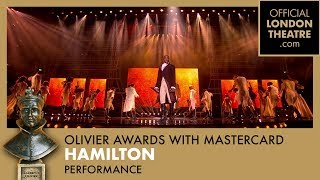 Hamilton performance at the Olivier Awards 2018 with Mastercard - dooclip.me