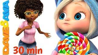 🍭 Ava Ava Yes Mama | Johny Johny Yes Papa | Nursery Rhymes Collection 30 min from Dave and Ava🍭
