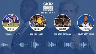 Ezekiel Elliott, LeBron James, Carmelo Anthony, David West   UNDISPUTED Audio Podcast