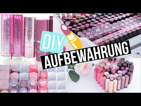 DIY Makeup Aufbewahrung Lippenstift - STORAGE BEAUTY HACKS