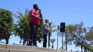 Julia @ Impeachment March Justin Herman Plaza San Francisco California (July 2, 2017)