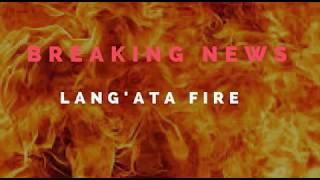 Breaking News:Fire engulfs informal settlements at Langata Southlands in Nairobi