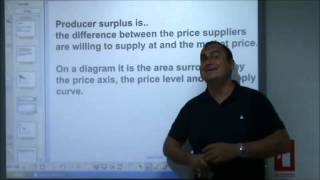 AS-Level Economics Video 8 - Consumer And Producer Surplus