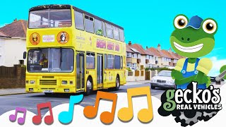 Party On The Party Bus Song NEW Kids Music Geckos Real Vehicles Trucks For Children