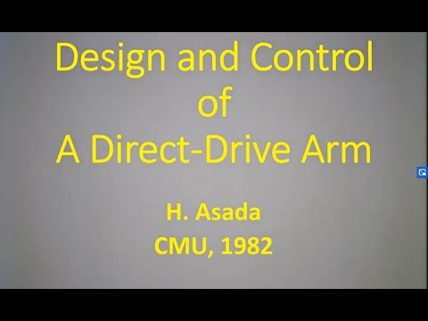 Design and Control of a Direct-Drive Arm