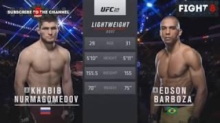 новогодний  Бой  Хабиба Нурмагомедов VS Эдсон Барбоза Khabib Nurmagomedov vs Edson Barboza UFC 2018