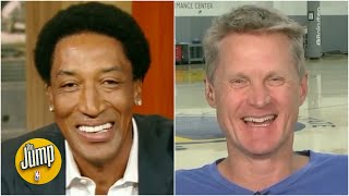 Steve Kerr reminisces with Scottie Pippen about their Bulls playoff runs | The Jump | ESPN - Video Youtube