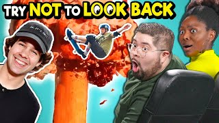 Adults React To TRY NOT TO LOOK BACK Challenge - Elephant Toothpaste, 12,000 Matches