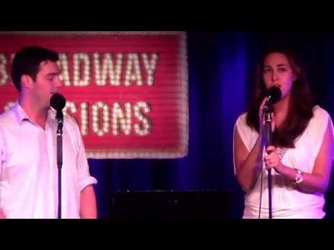 "NYC performance at Broadway Sessions, singing a duet from the musical ""Bridges of Madison County"""