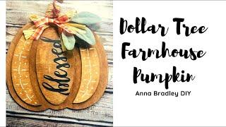 DOLLAR TREE DIY//DOLLAR TREE FARMHOUSE PUMPKIN// Quick And Easy Fall Crafts// Fall 2020