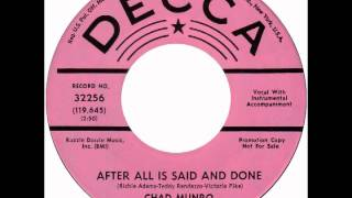 "Chad Munro – ""After All Is Said And Done"" (Decca) 1968"