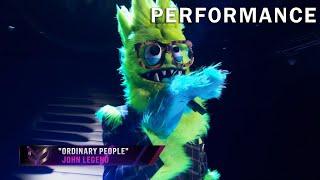 "Thingamajig sings ""Ordinary People"" by John Legend | THE MASKED SINGER | SEASON 2"