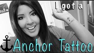 My New Anchor Wrist TATTOO! VLOG 163