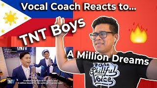 Vocal Coach Reaction to the TNT Boys - A Million Dreams (Filipino Singers Are On The Rise!)