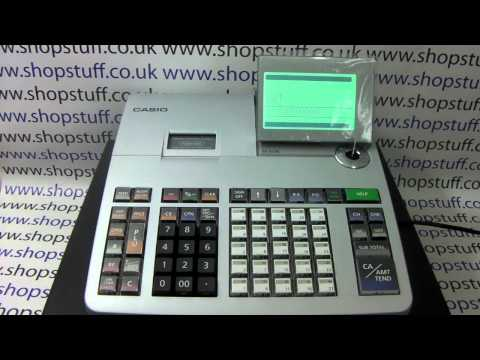 How to reset totals & counters on Casio SE-S400 SE-S800 SE-S3000