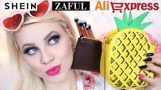 Duży PR-owy Openbox z Zaful, Aliexpress, Shein - ubrania, biżuteria, dodatki, pędzle * Candymona