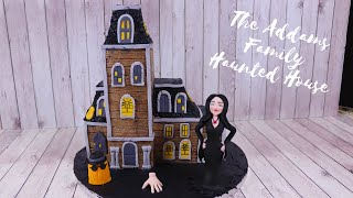 The Addams Family Haunted House Cake + The Hand and Cousin Itt – Halloween Cake 2019