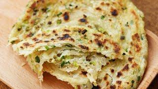 Extra-Flaky Chinese Scallion Pancakes Recipe [葱油饼]