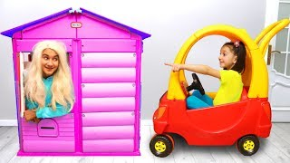 Fatima and Ismet Ride on Toy Car & play with toys