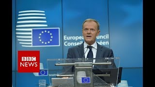 """BREXIT negotiations - Tusk: UK offer for EU citizens """"below expectations"""" - BBC News"""