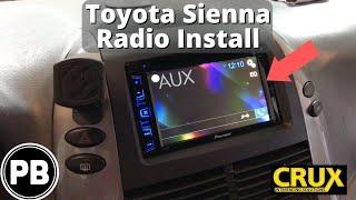 2004 - 2010 Toyota Sienna Bluetooth Stereo Install | Pioneer AVH-280BT