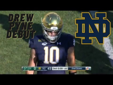 Drew Pyne makes his collegiate debut vs South Florida