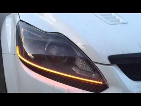 Universal Dynamic Sequential LED strips-Ford Focus - смотреть онлайн