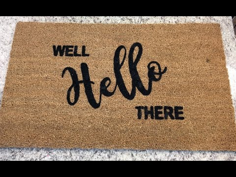 DIY Front Door Mat: Instructions for Silhouette/Cricut Vinyl Project