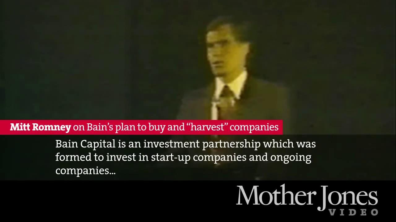 "Mitt Romney on Bain's plan to buy and ""harvest"" companies thumbnail"