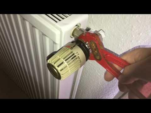 Thermostat an einem Heizkörper tauschen Heimeier Thermostat-Kopf Typ K weiß ersetzen Anleitung